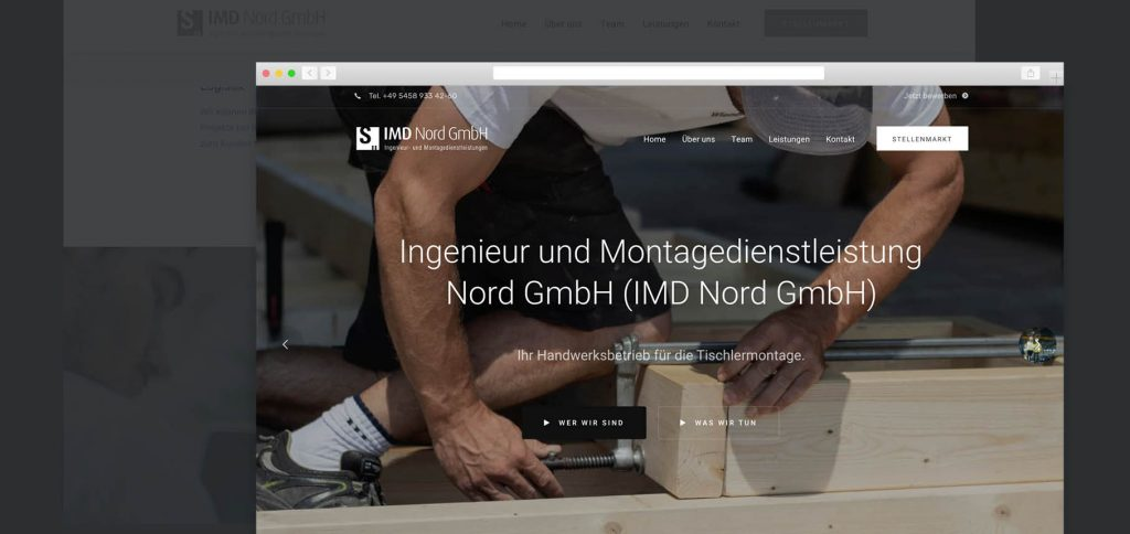Web Relaunch – IMD Nord GmbH