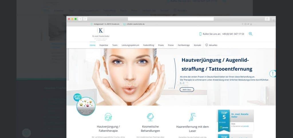 Web Relaunch – Privatpraxis Dr. med. Natalie Keller