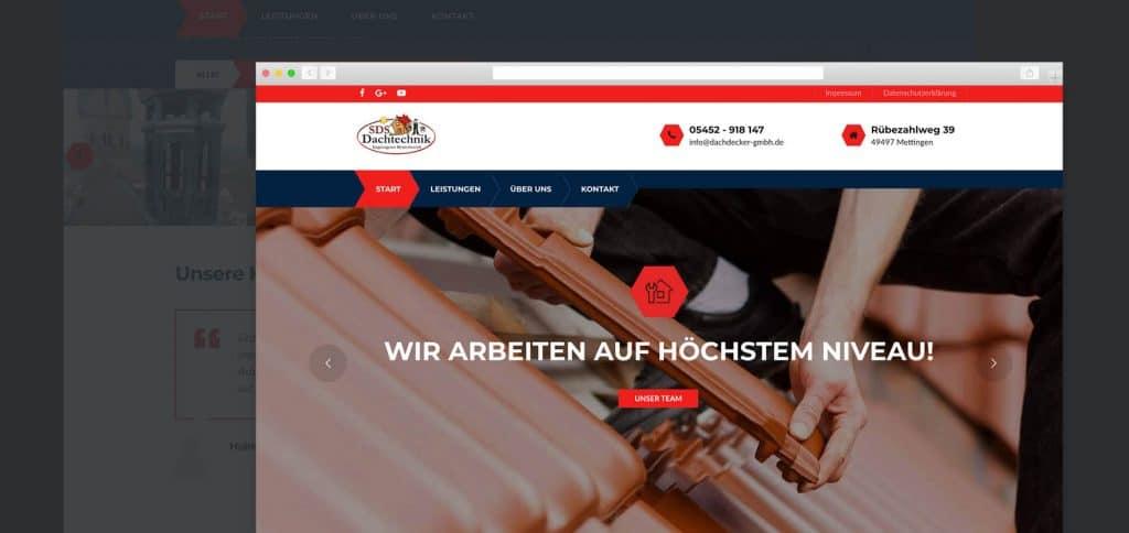 Web Relaunch – SDS Dachtechnik GmbH