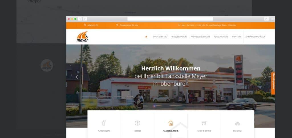 Webdesign – bft Tankstelle Meyer