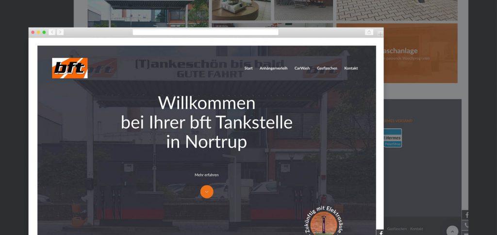Webdesign – bft Tankstelle Nortrup