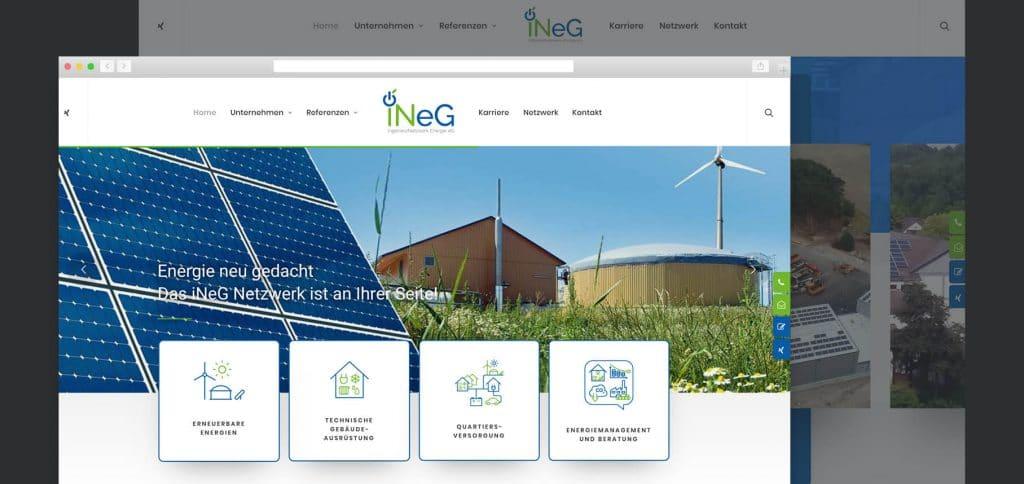 Web Relaunch – iNeG IngenieurNetzwerk Energie eG